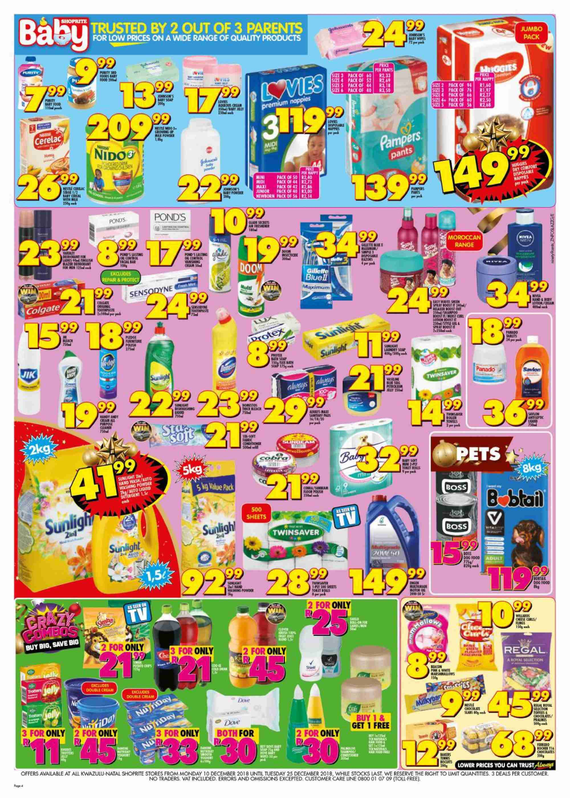 Shoprite catalogue  - 12.10.2018 - 12.25.2018. Page 4.