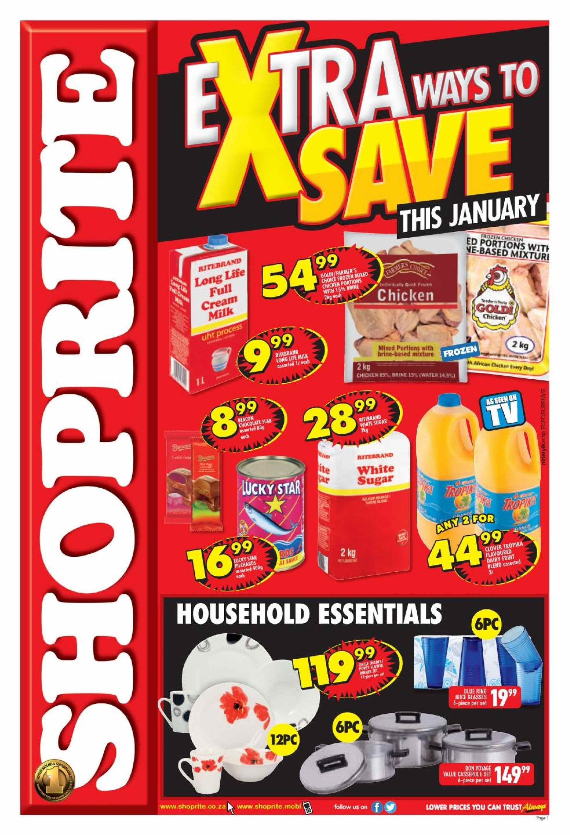 Shoprite catalogue  - 01.21.2019 - 02.10.2019. Page 1.