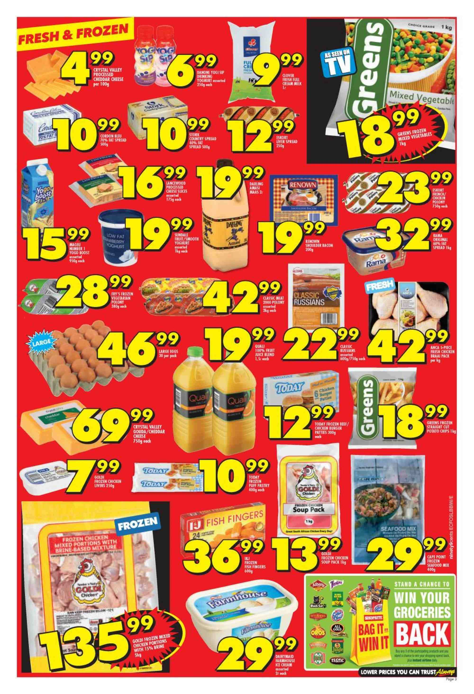 Shoprite catalogue  - 01.21.2019 - 02.10.2019. Page 3.