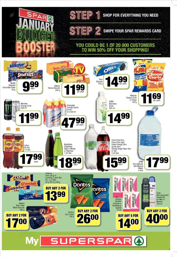 SPAR catalogue  - 01.22.2019 - 02.03.2019. Page 3.
