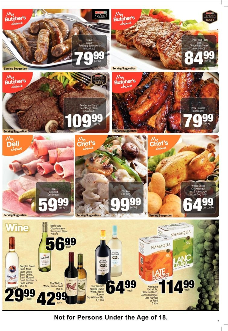 SPAR catalogue  - 01.22.2019 - 02.03.2019. Page 7.
