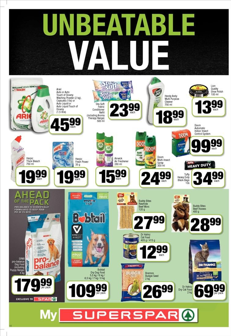 SPAR catalogue  - 01.22.2019 - 02.03.2019. Page 10.