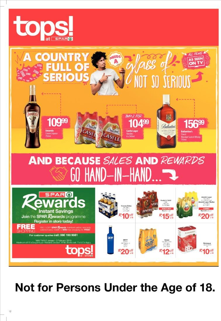 SPAR catalogue  - 01.22.2019 - 02.03.2019. Page 12.