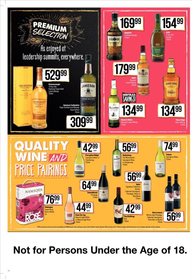 SPAR catalogue  - 01.22.2019 - 02.03.2019. Page 14.