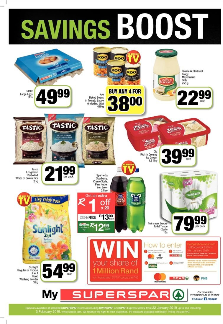 SPAR catalogue  - 01.22.2019 - 02.03.2019. Page 16.