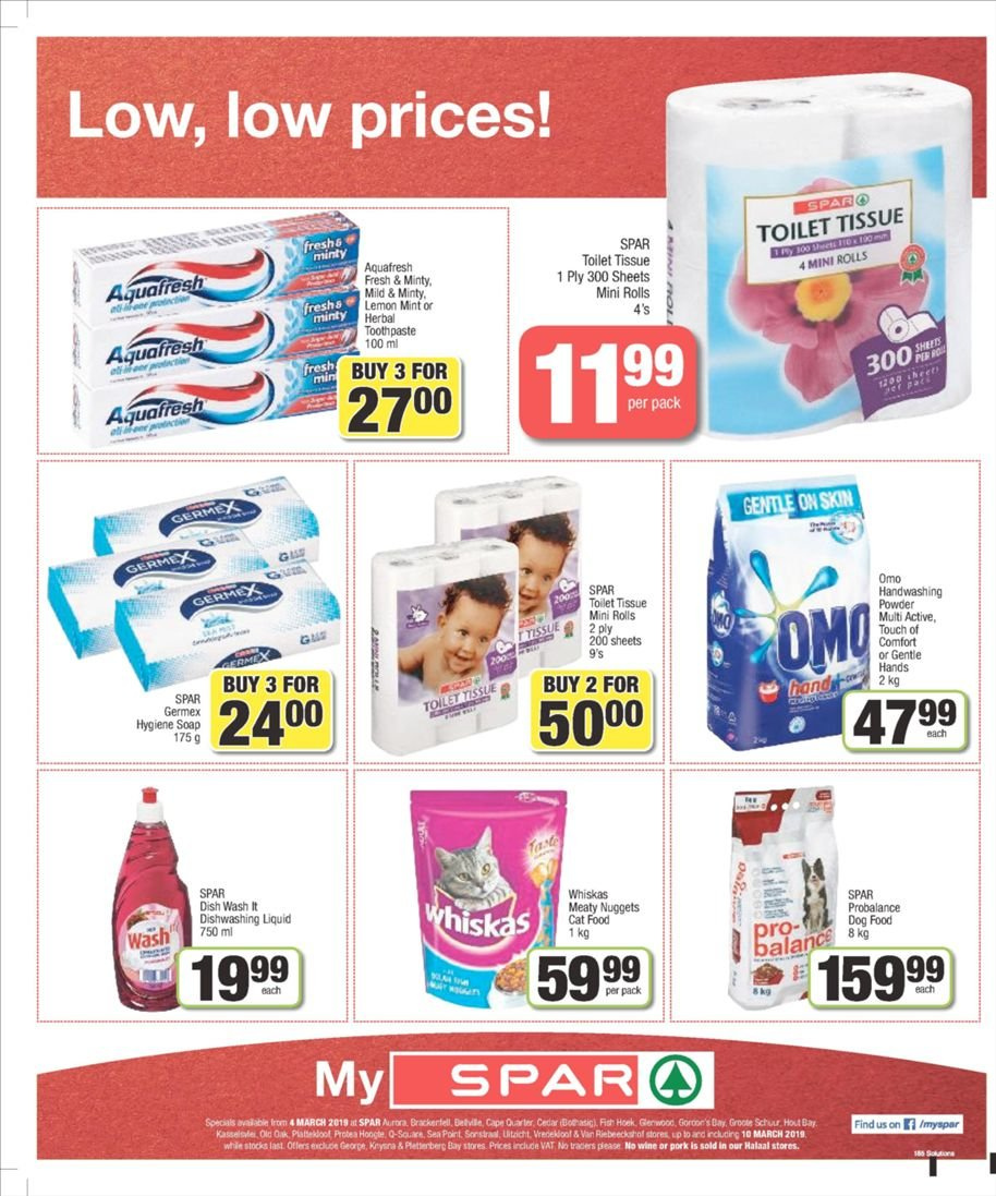 SPAR catalogue  - 03.04.2019 - 03.10.2019. Page 4.