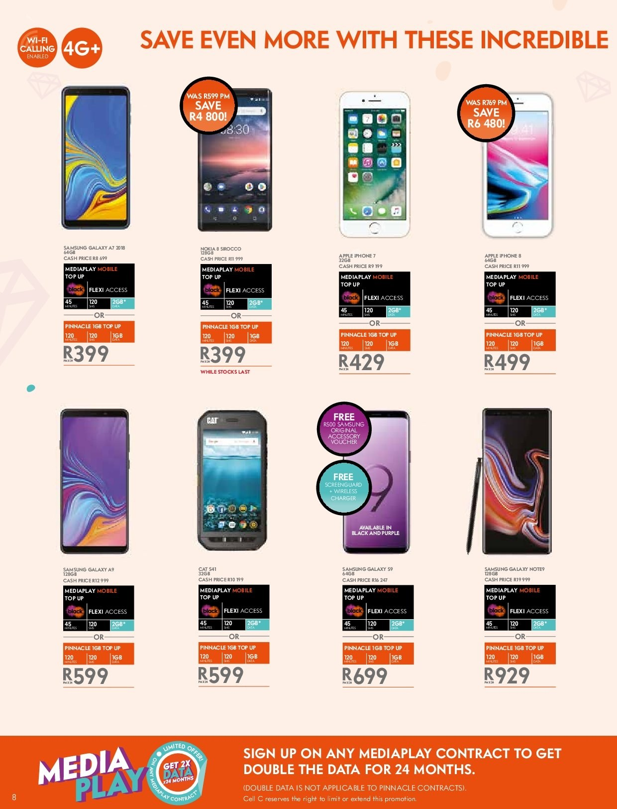 Cell C catalogue  - 03.14.2019 - 04.24.2019. Page 8.