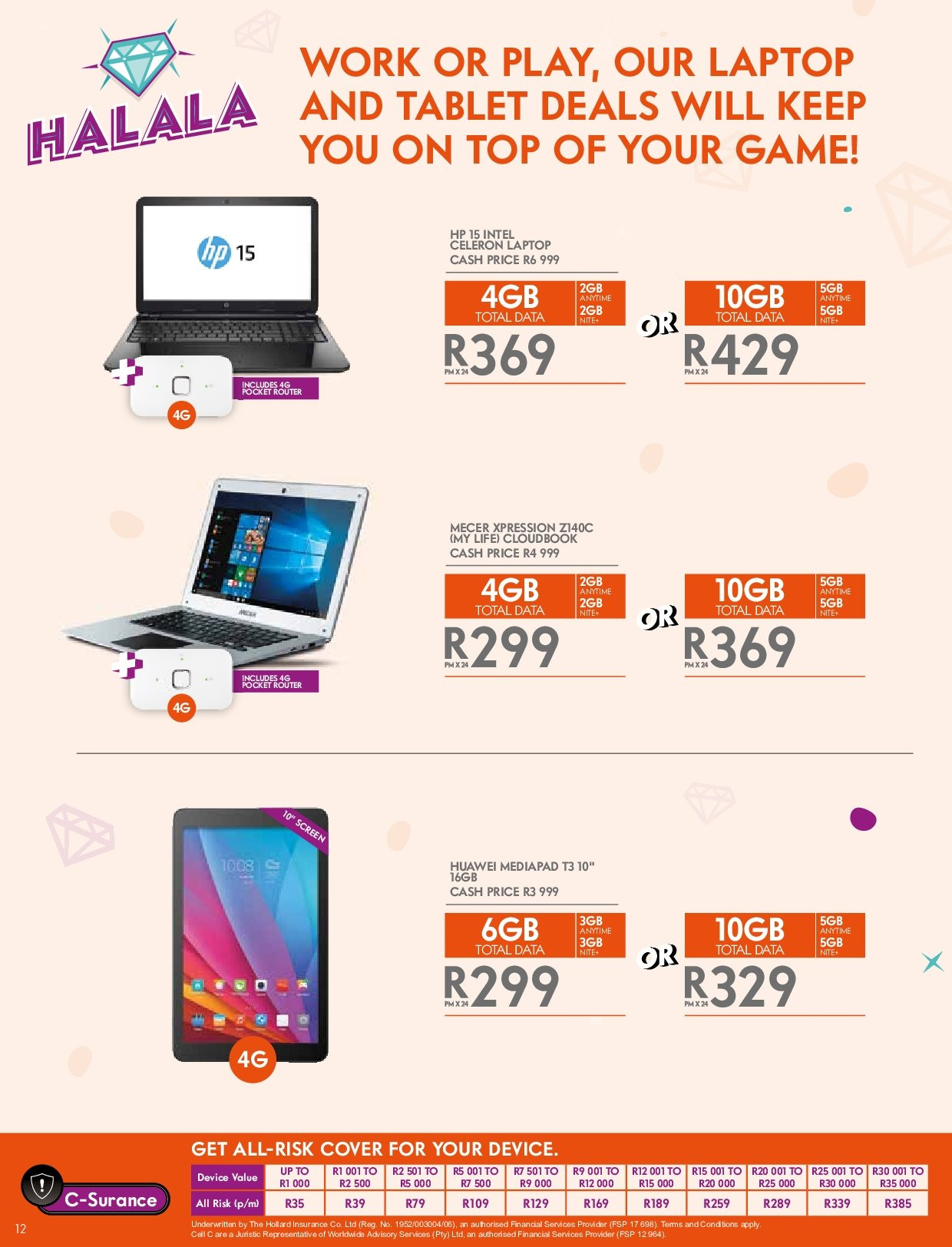 Cell C catalogue  - 03.14.2019 - 04.24.2019. Page 12.
