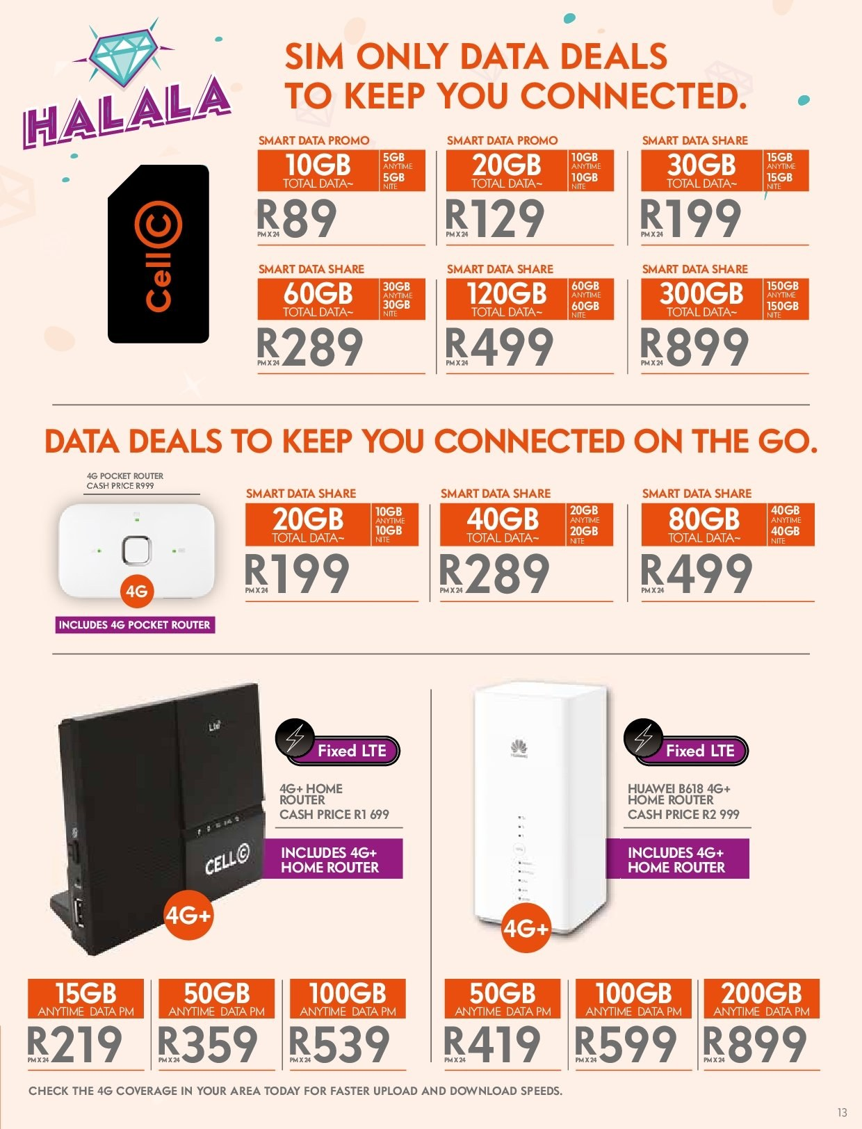 Cell C catalogue  - 03.14.2019 - 04.24.2019. Page 13.