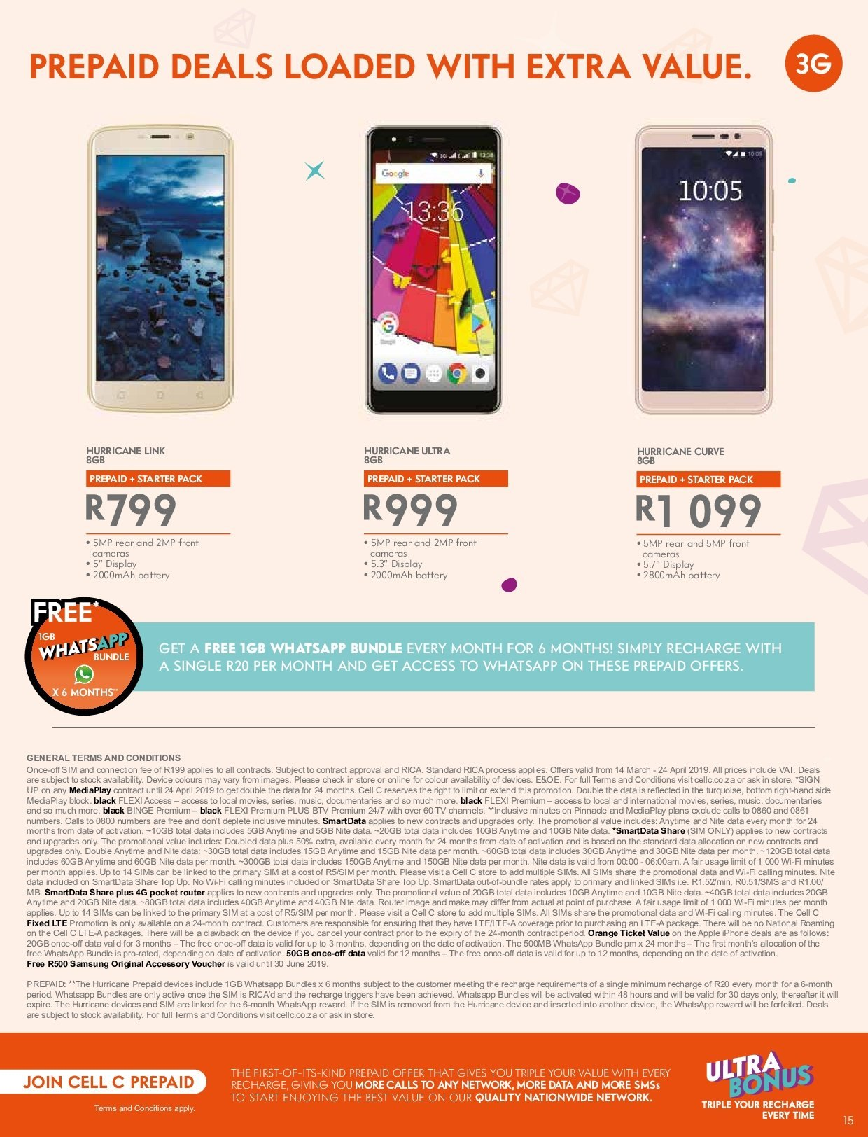 Cell C catalogue  - 03.14.2019 - 04.24.2019. Page 15.