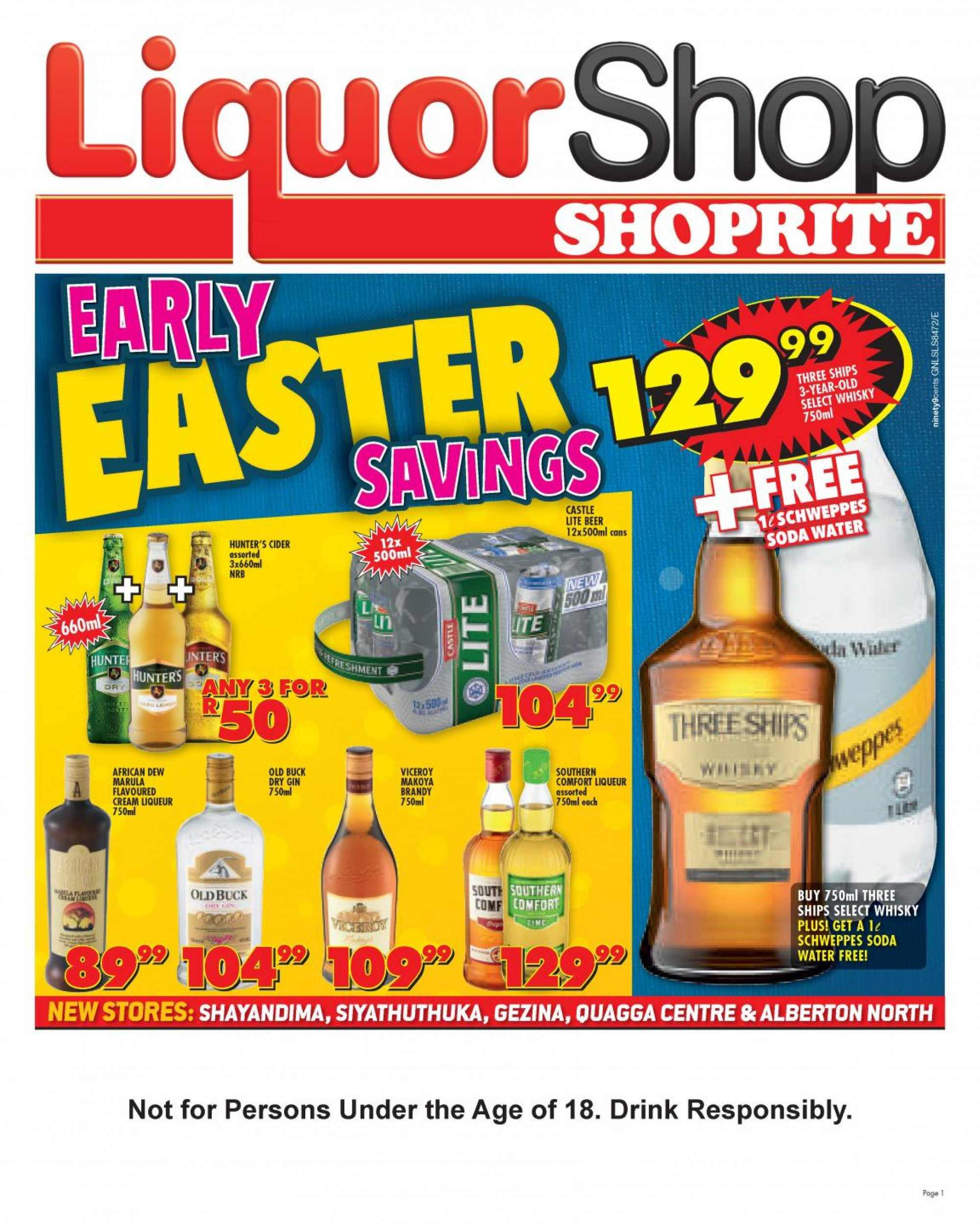 Shoprite catalogue  - 03.14.2019 - 03.31.2019. Page 1.