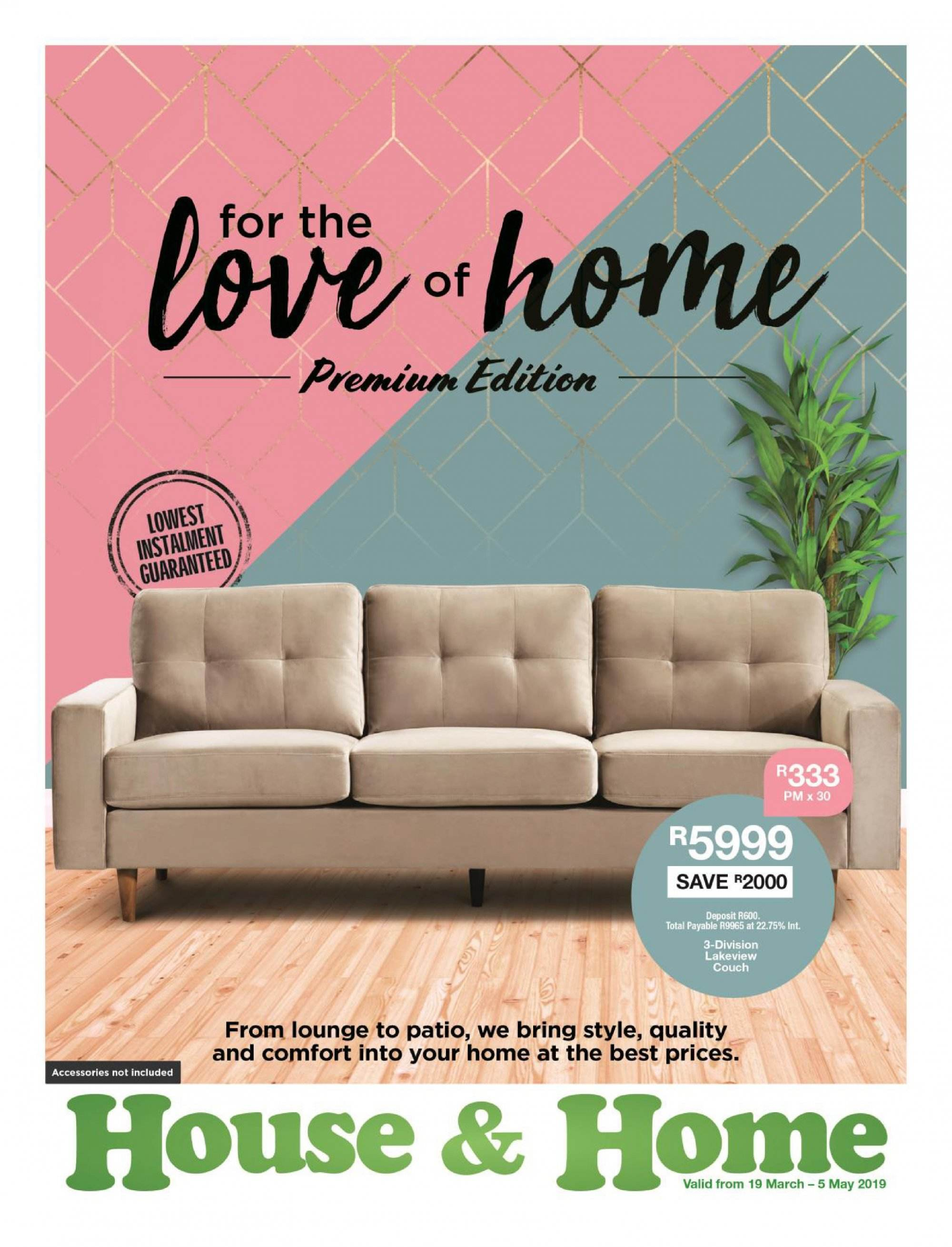 House & Home catalogue  - 03.19.2019 - 05.05.2019. Page 1.