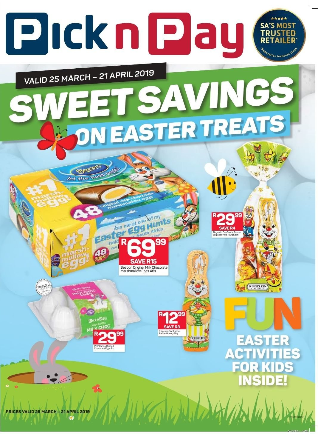 Pick n Pay catalogue  - 03.25.2019 - 04.21.2019. Page 1.