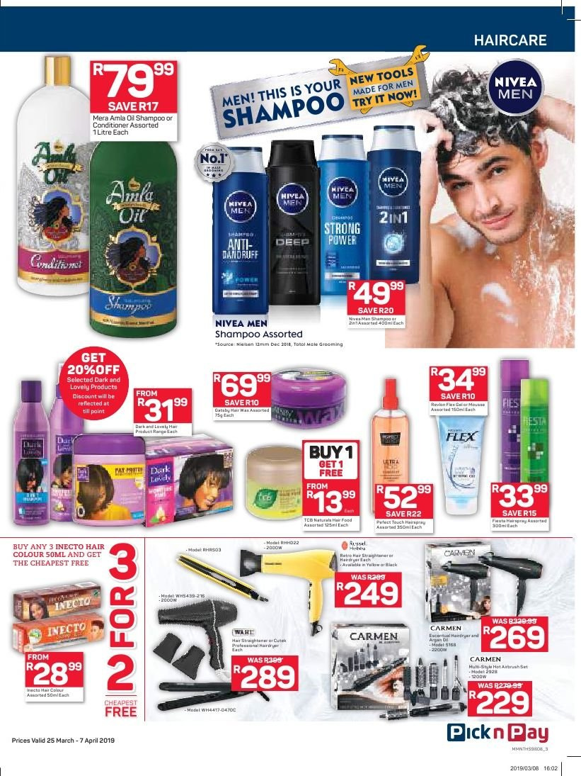 Pick n Pay catalogue  - 03.25.2019 - 04.07.2019. Page 3.