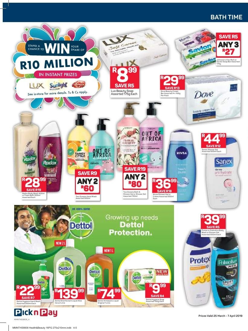 Pick n Pay catalogue  - 03.25.2019 - 04.07.2019. Page 4.