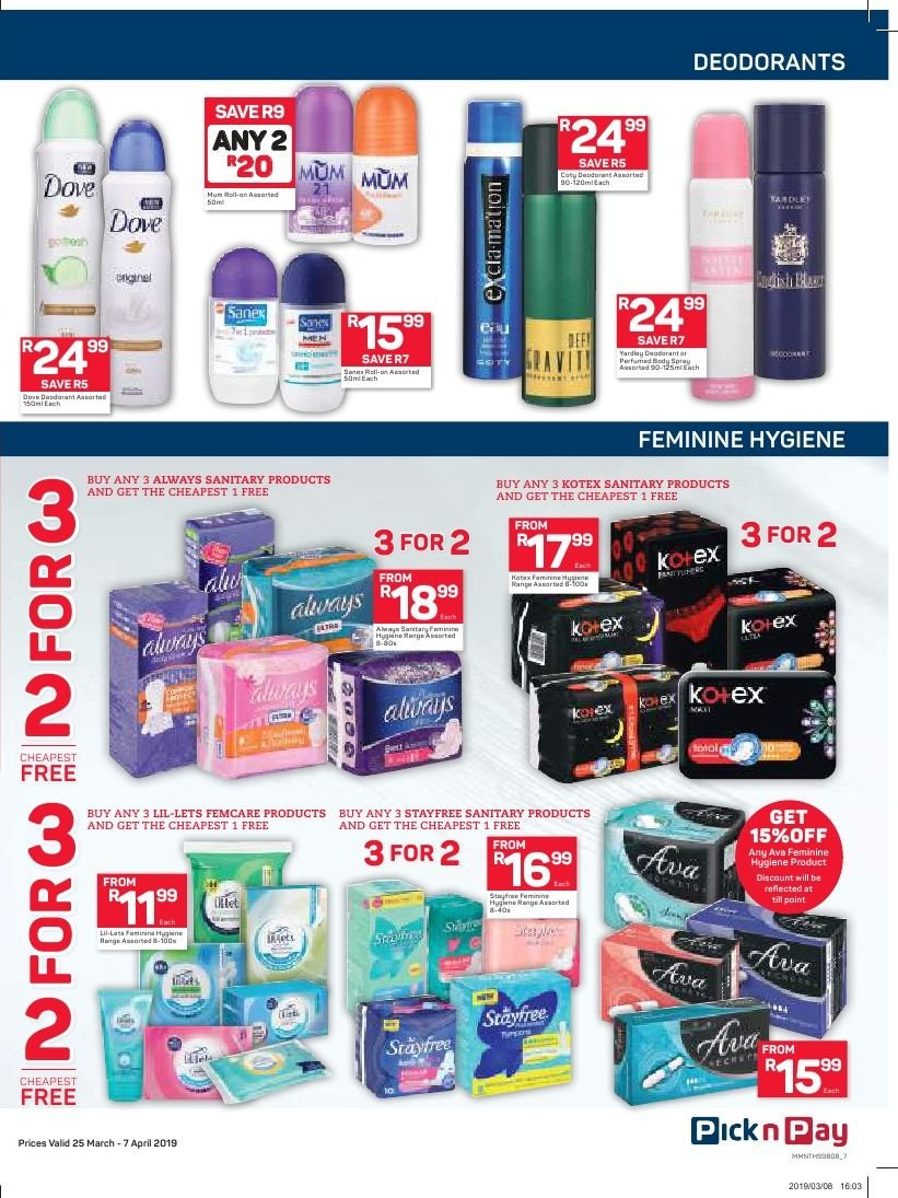 Pick n Pay catalogue  - 03.25.2019 - 04.07.2019. Page 7.