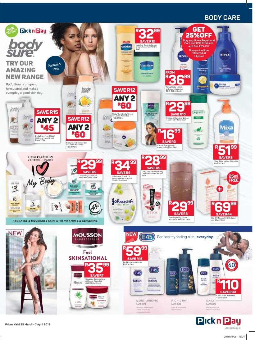 Pick n Pay catalogue  - 03.25.2019 - 04.07.2019. Page 9.