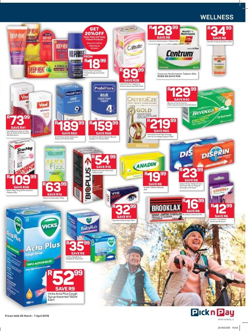 Pick n Pay catalogue  - 03.25.2019 - 04.07.2019. Page 11.