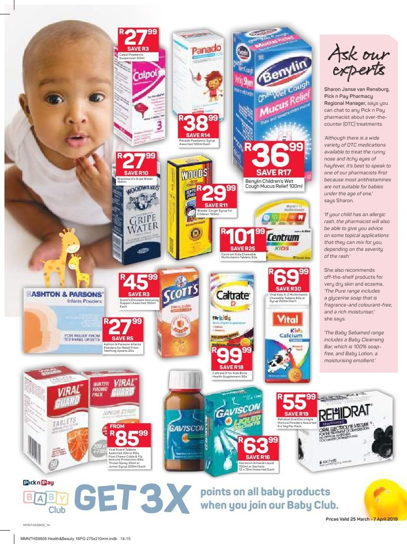 Pick n Pay catalogue  - 03.25.2019 - 04.07.2019. Page 14.