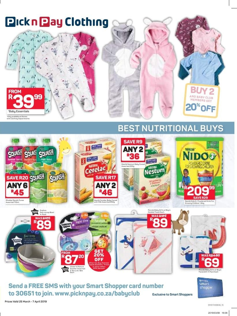 Pick n Pay catalogue  - 03.25.2019 - 04.07.2019. Page 15.