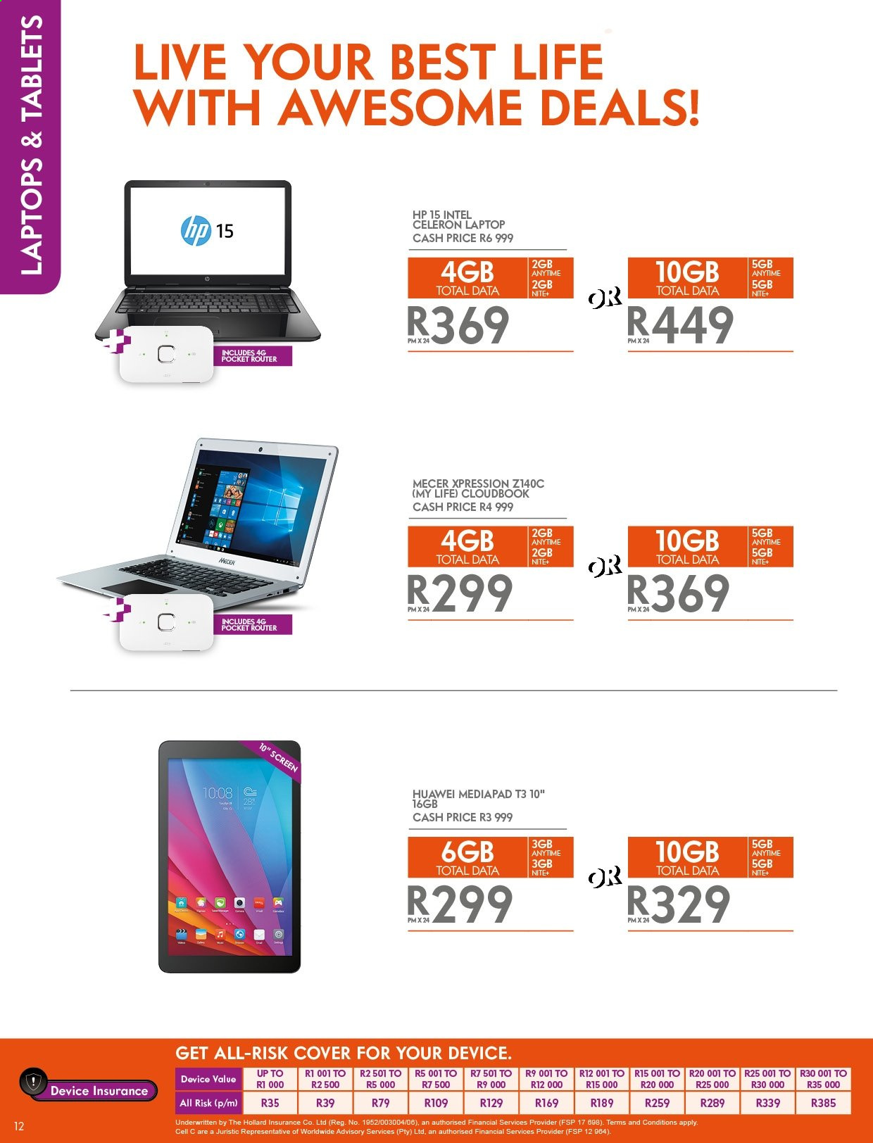 Cell C catalogue  - 04.25.2019 - 05.31.2019. Page 12.