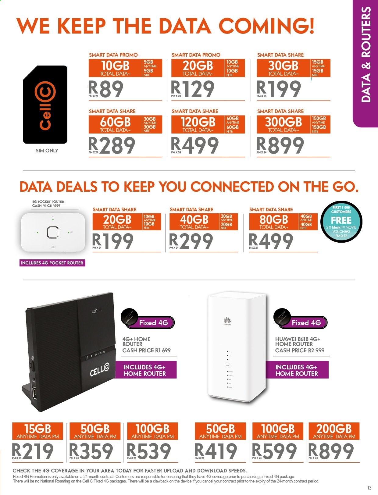 Cell C catalogue  - 04.25.2019 - 05.31.2019. Page 13.