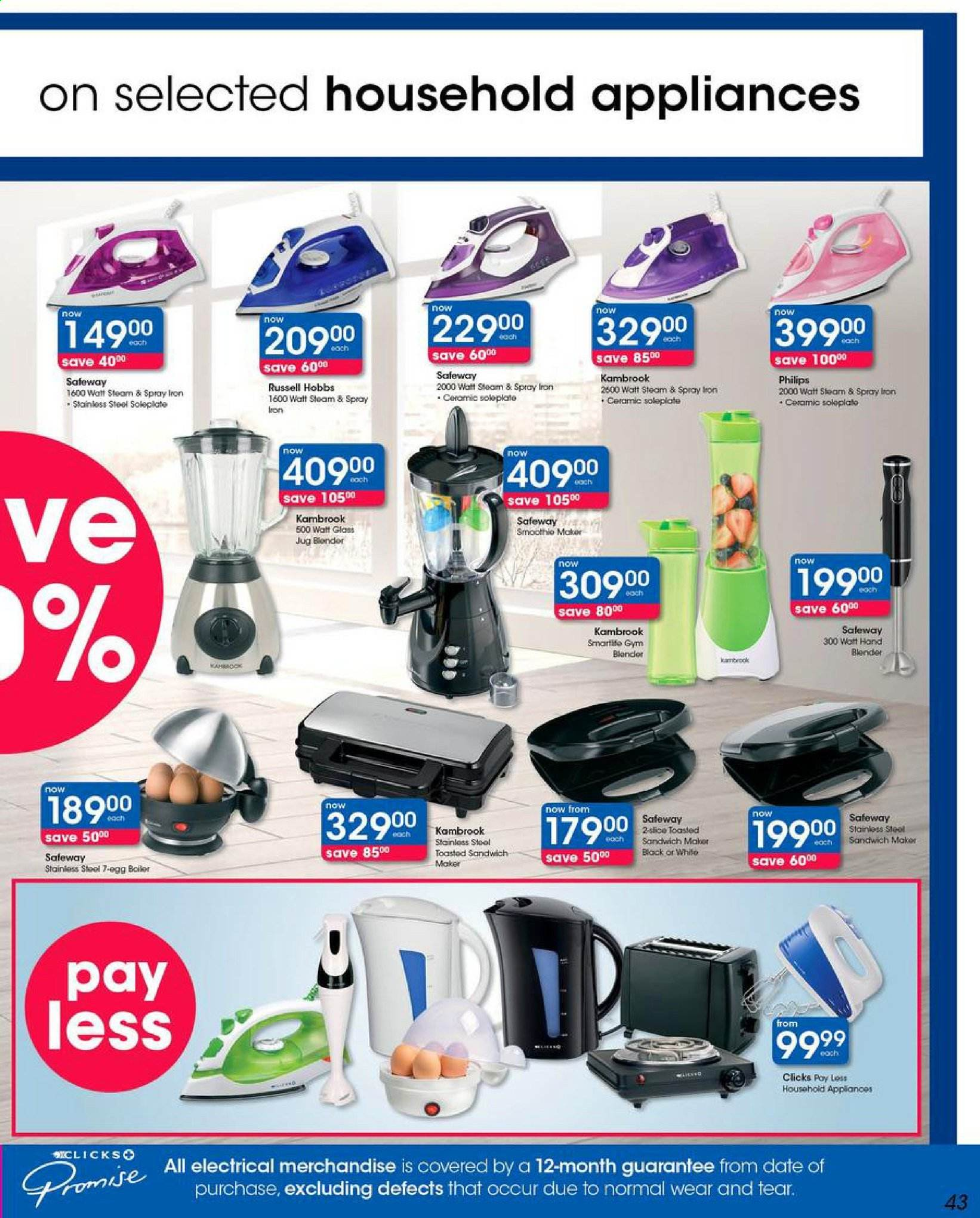 Clicks catalogue  - 05.03.2019 - 05.13.2019. Page 43.