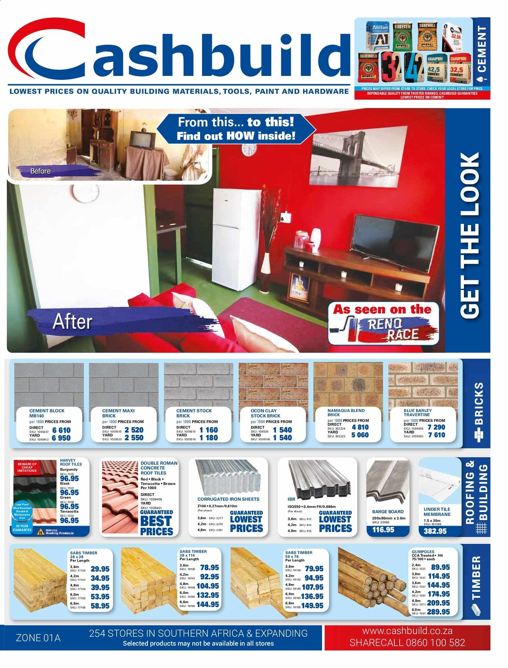 Cashbuild catalogue  - 05.20.2019 - 06.23.2019. Page 1.
