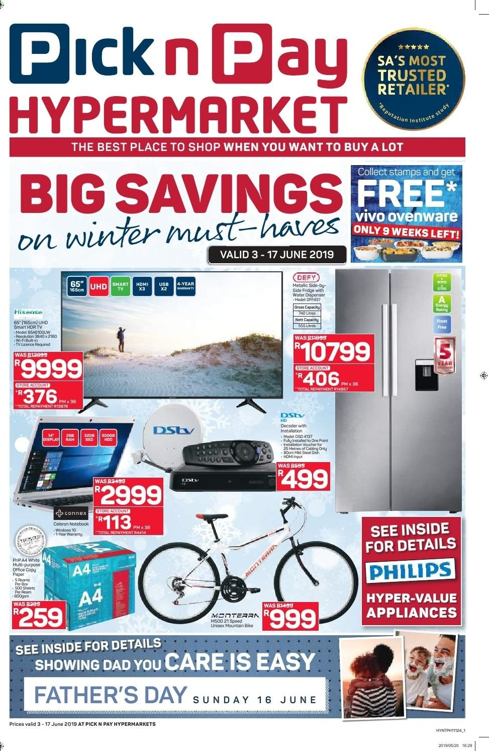 Pick n Pay catalogue  - 06.03.2019 - 06.17.2019. Page 1.