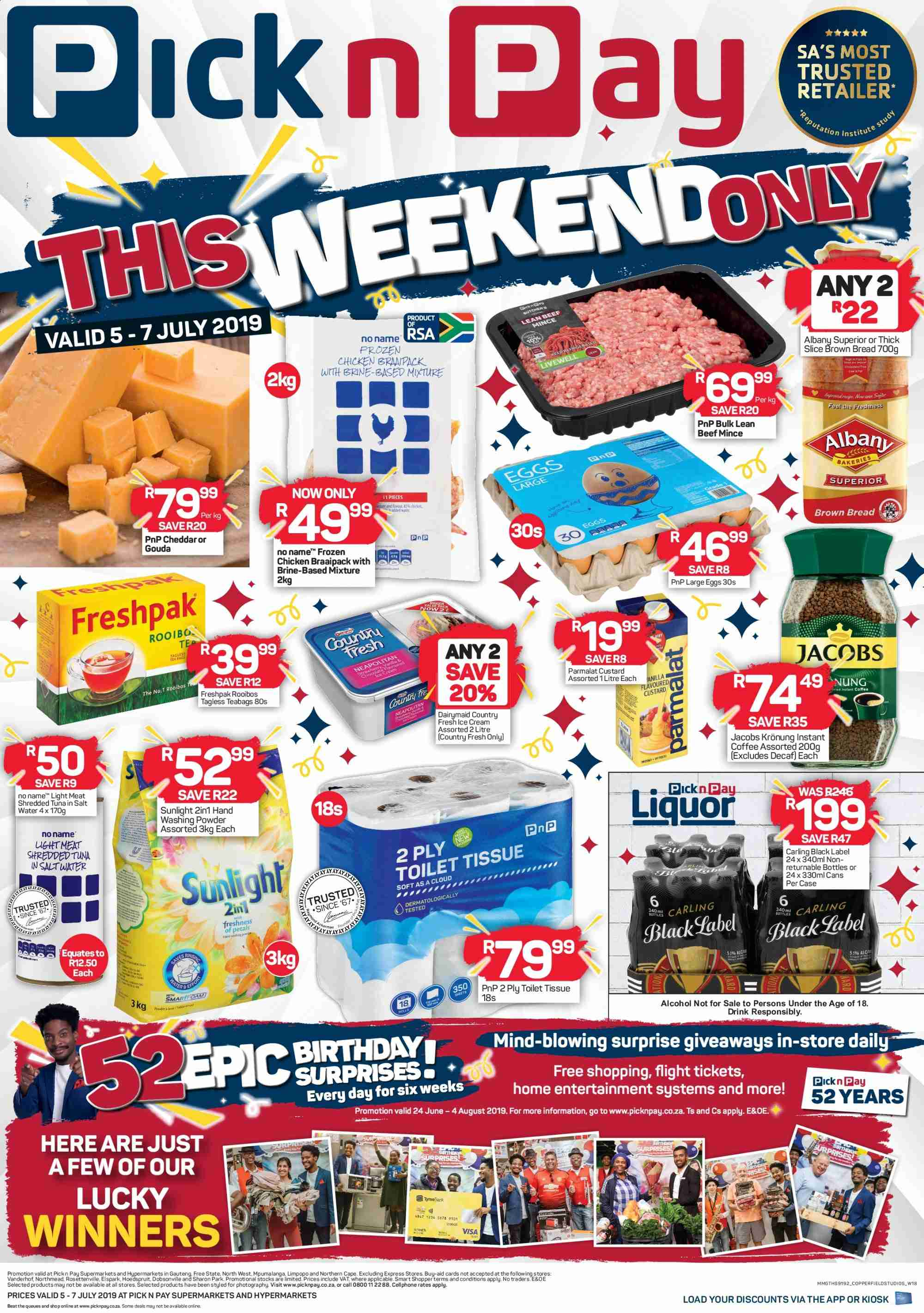 Pick n Pay catalogue  - 07.05.2019 - 07.07.2019. Page 1.