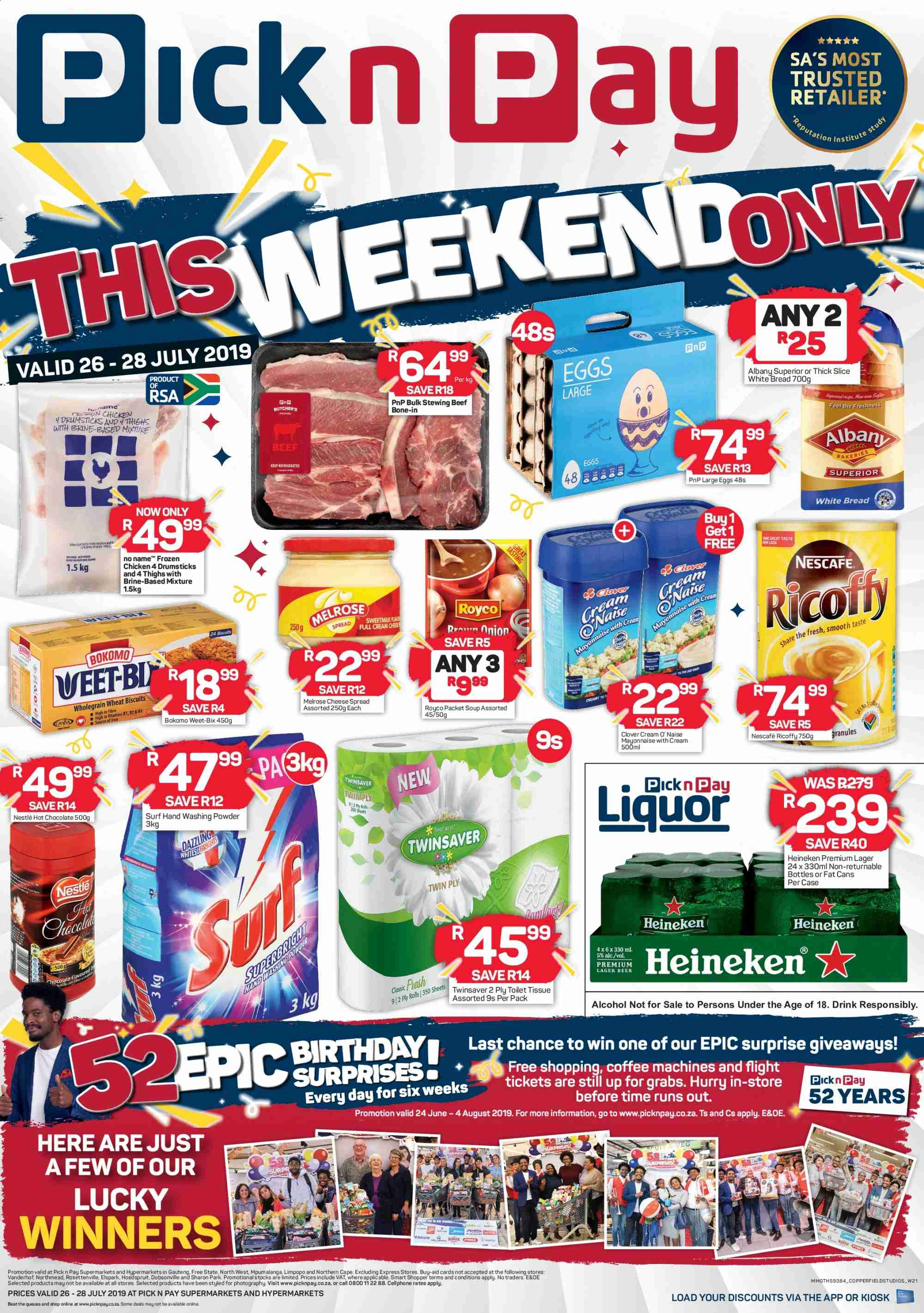 Pick n Pay catalogue  - 07.26.2019 - 07.28.2019. Page 1.