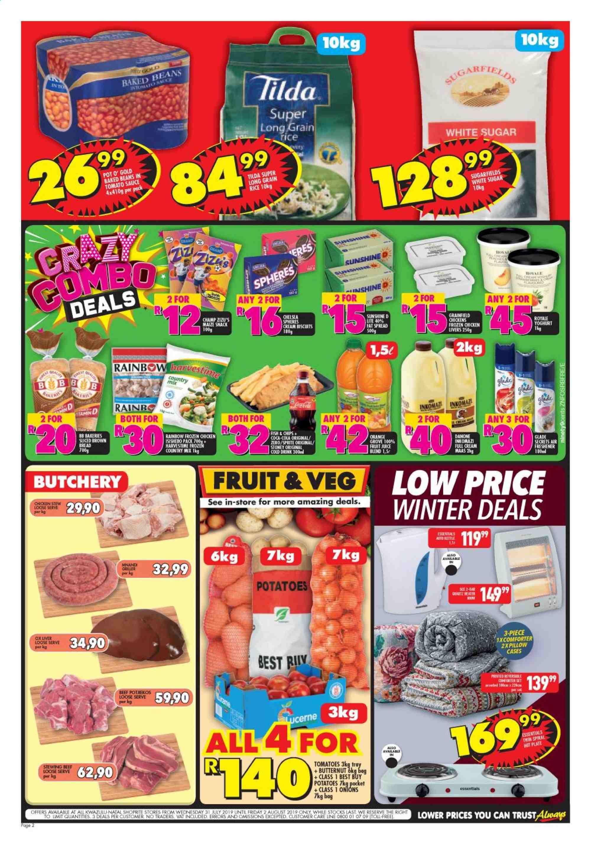 Shoprite catalogue  - 07.31.2019 - 08.02.2019. Page 2.