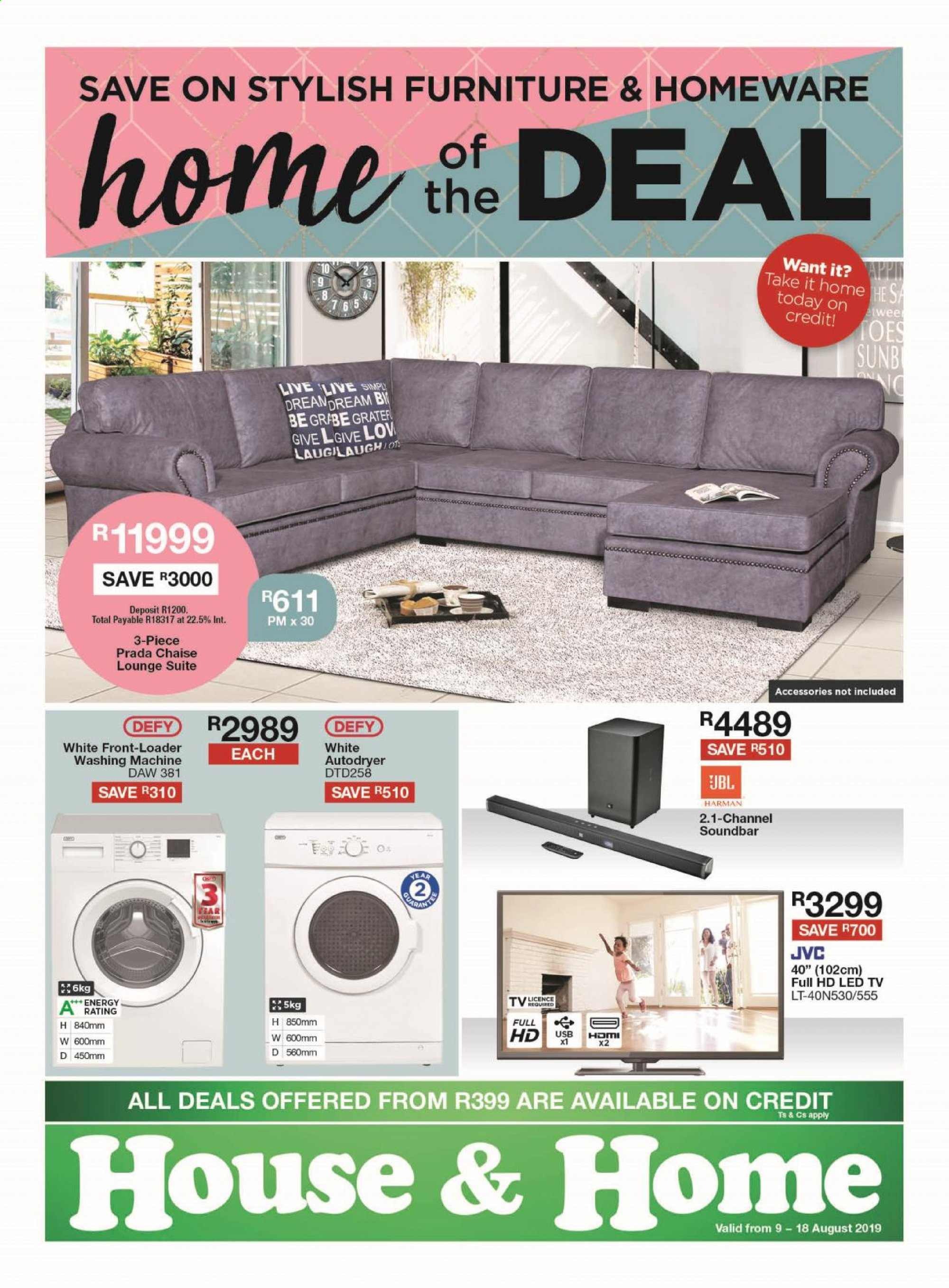 House & Home catalogue  - 08.09.2019 - 08.18.2019. Page 1.