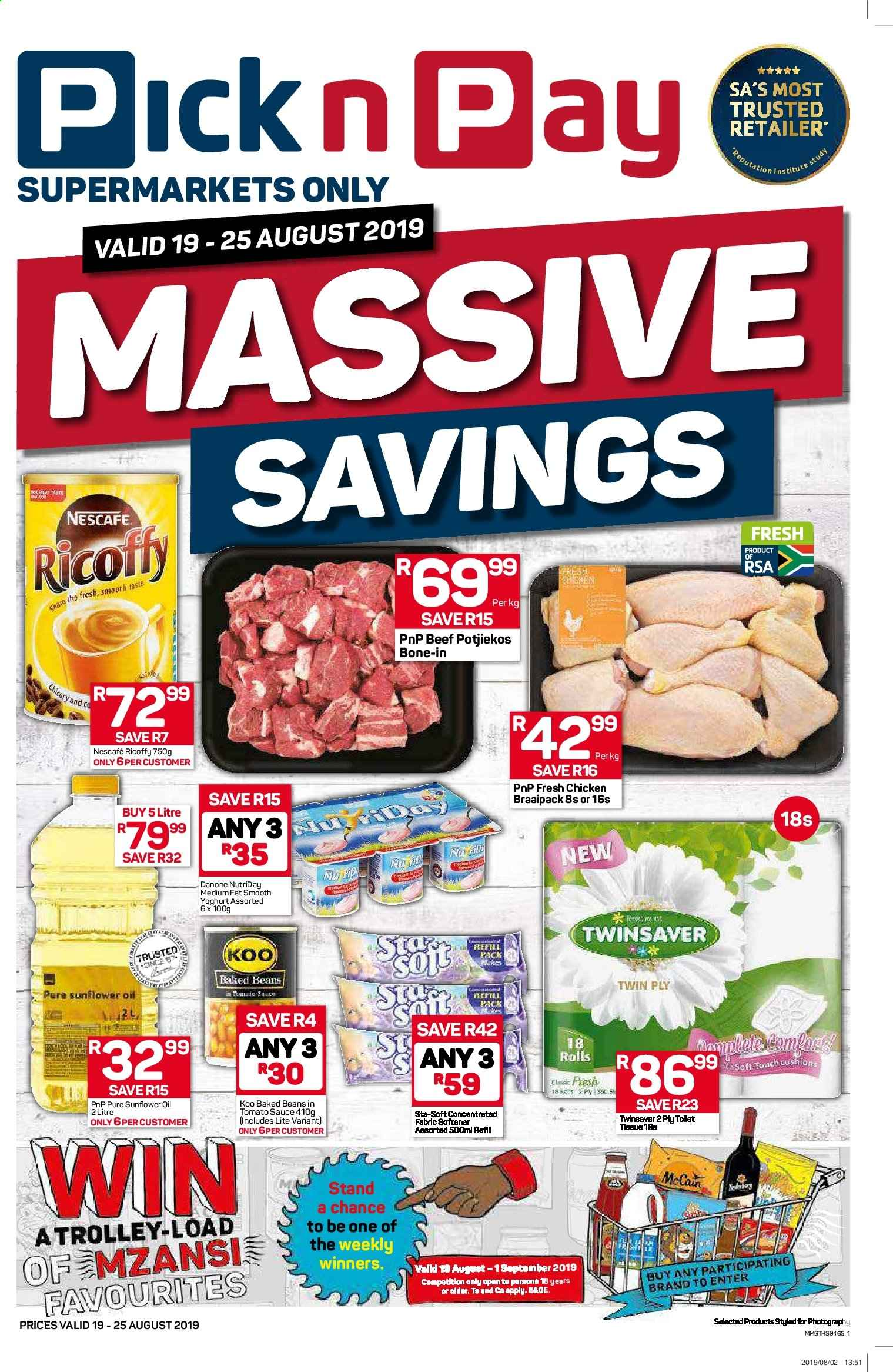 Pick n Pay catalogue  - 08.19.2019 - 08.25.2019. Page 1.