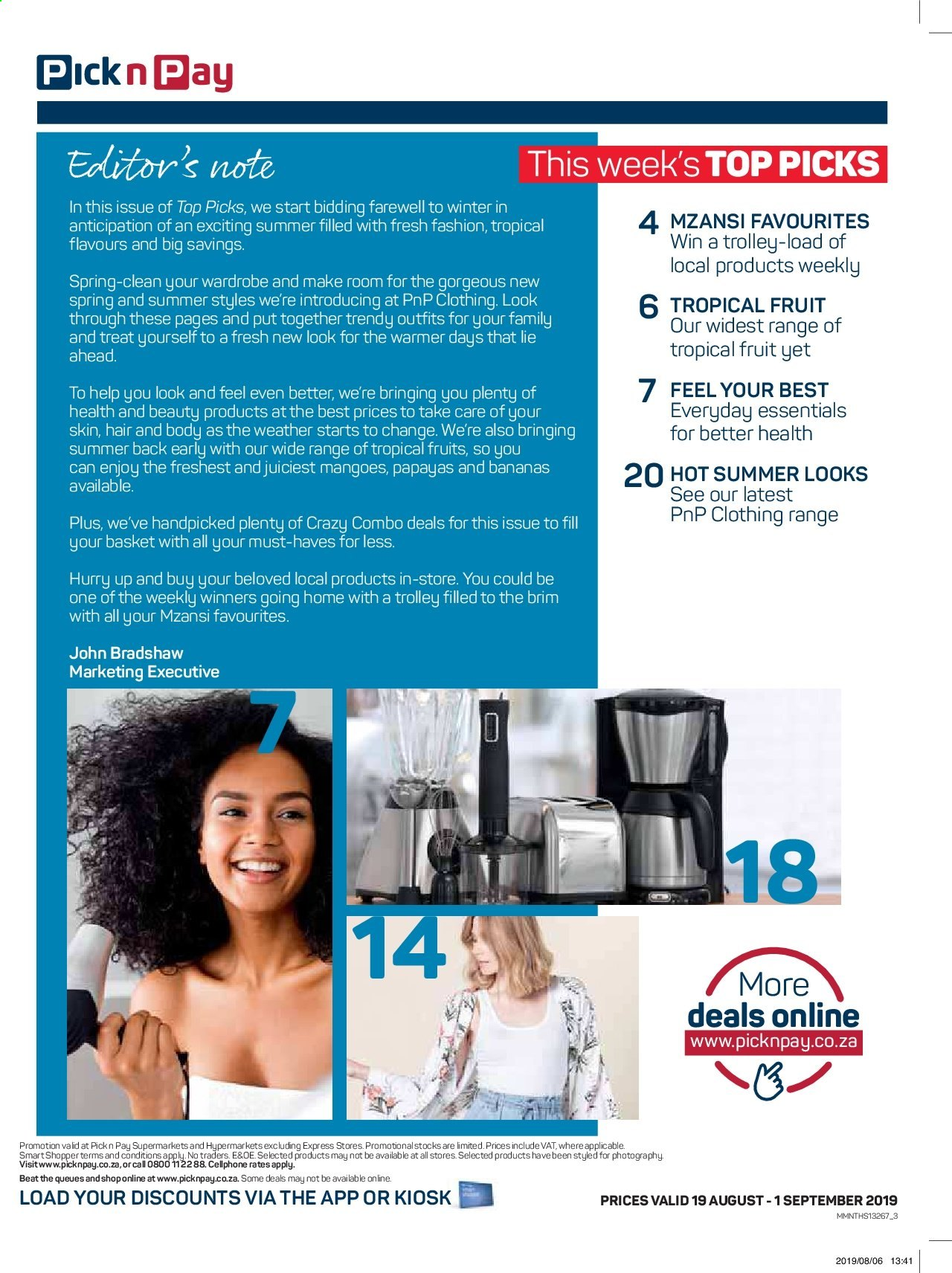 Pick n Pay catalogue  - 08.19.2019 - 09.01.2019. Page 3.