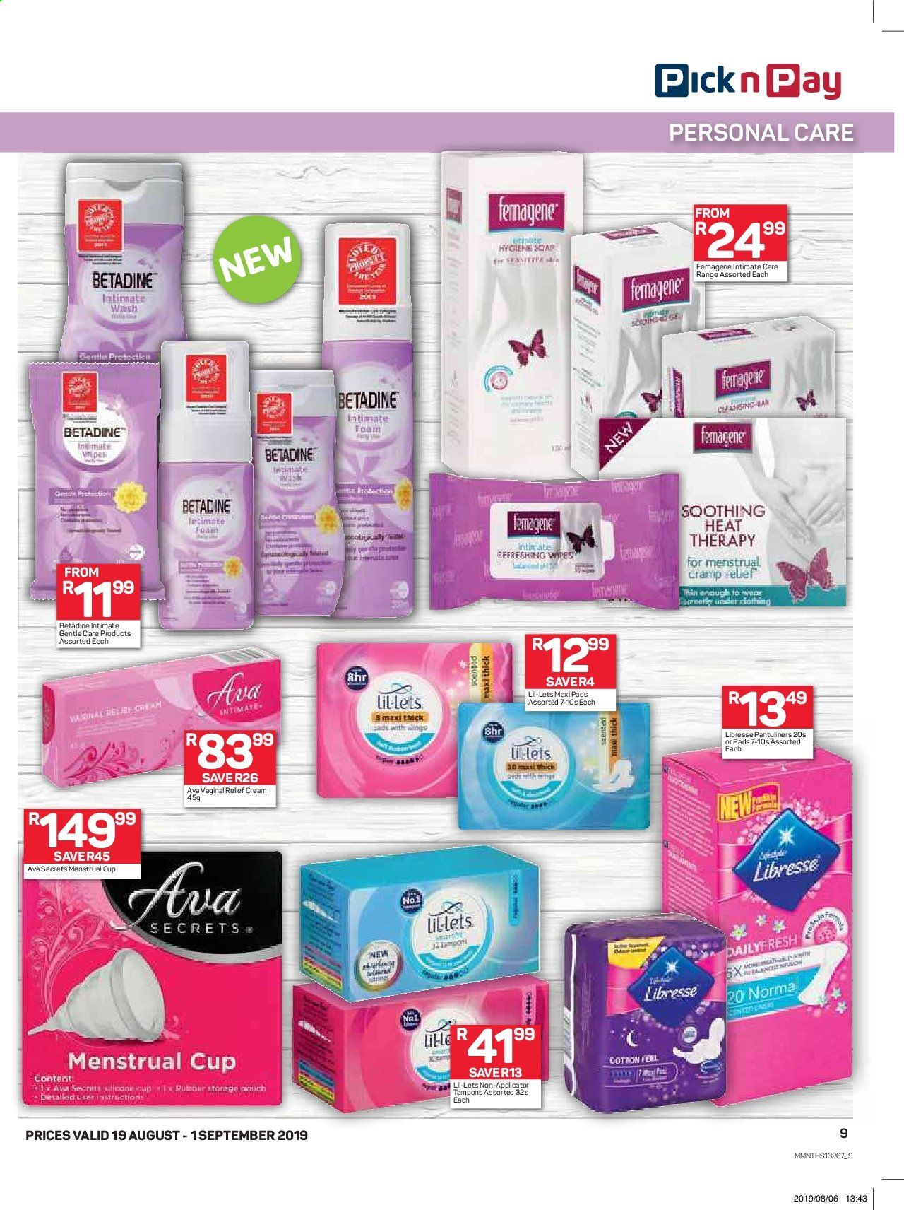Pick n Pay catalogue  - 08.19.2019 - 09.01.2019. Page 9.