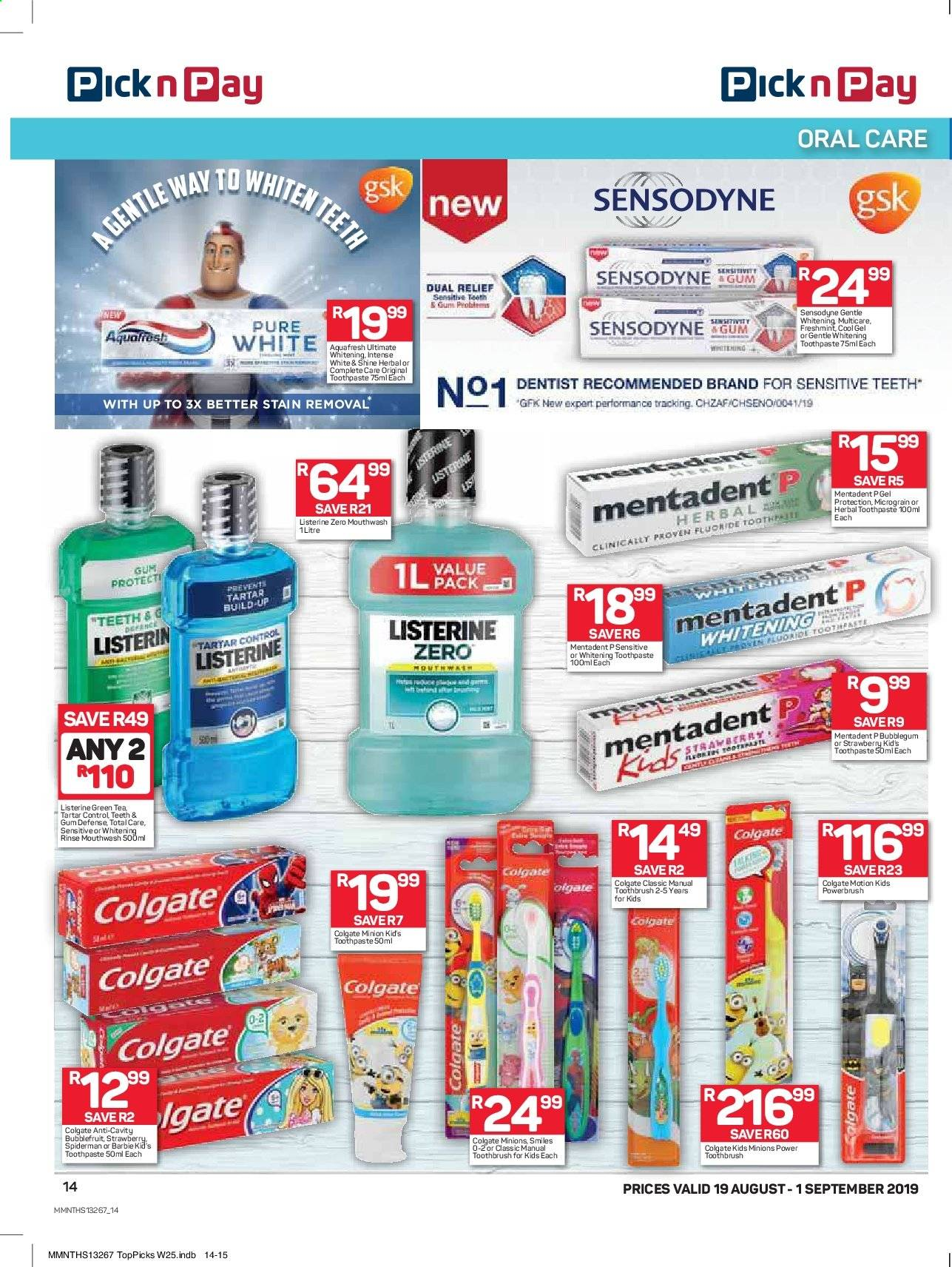 Pick n Pay catalogue  - 08.19.2019 - 09.01.2019. Page 14.
