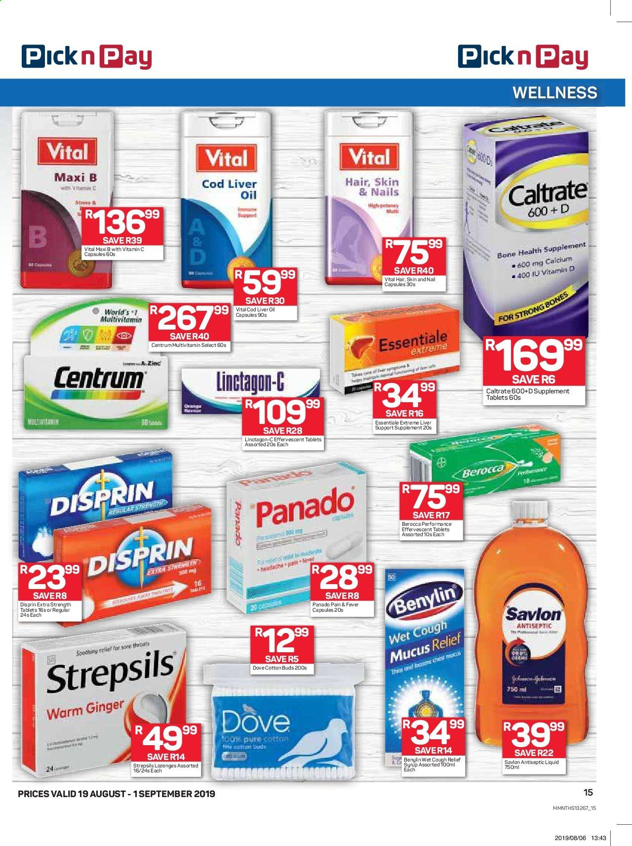 Pick n Pay catalogue  - 08.19.2019 - 09.01.2019. Page 15.