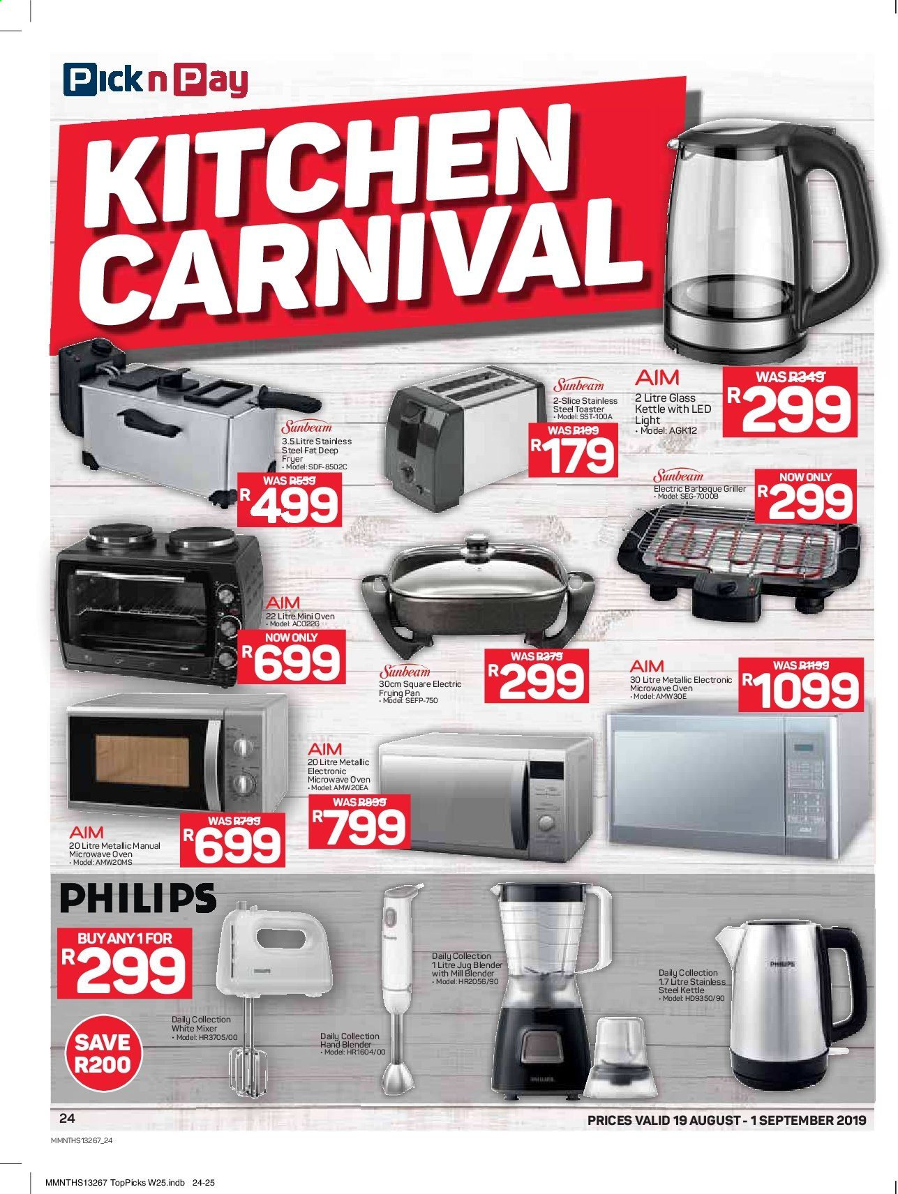 Pick n Pay catalogue  - 08.19.2019 - 09.01.2019. Page 24.