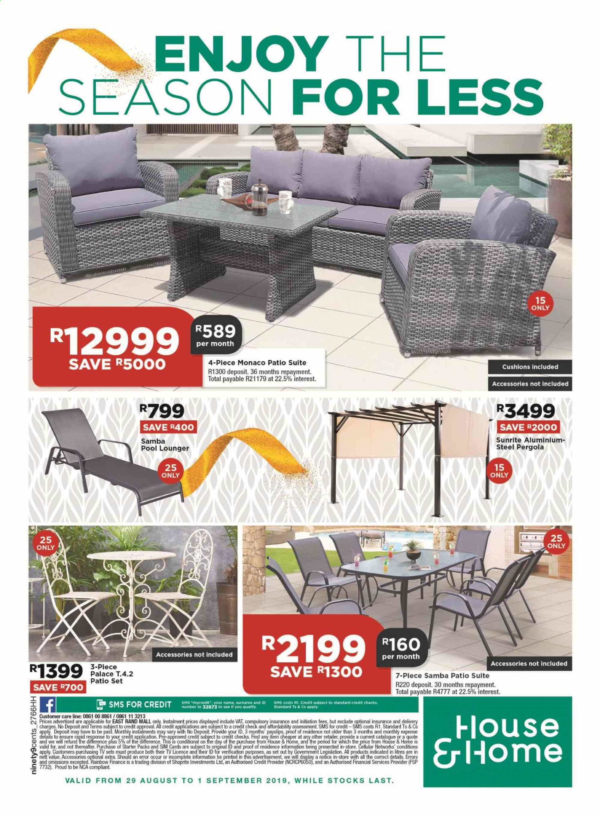 House & Home catalogue  - 08.29.2019 - 09.01.2019. Page 12.
