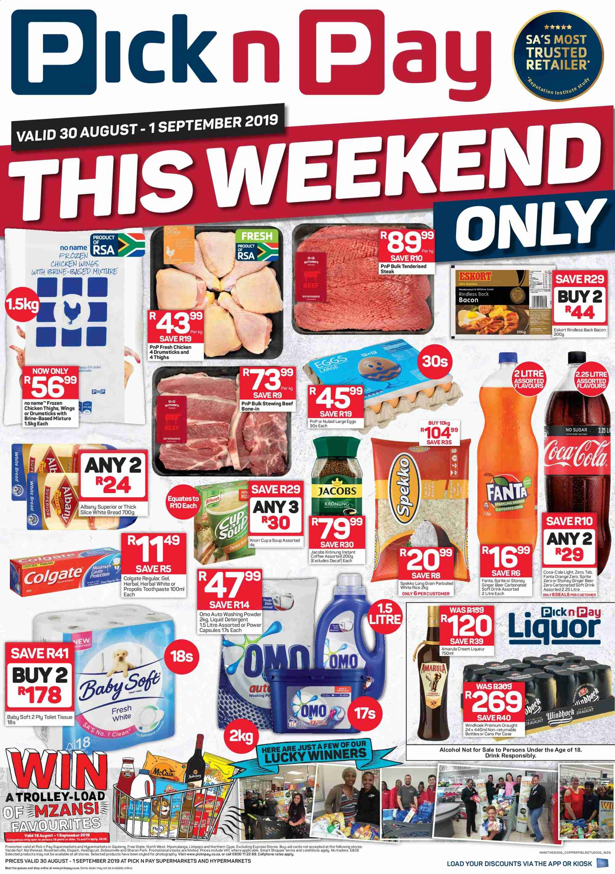 Pick n Pay catalogue  - 08.30.2019 - 09.01.2019. Page 1.