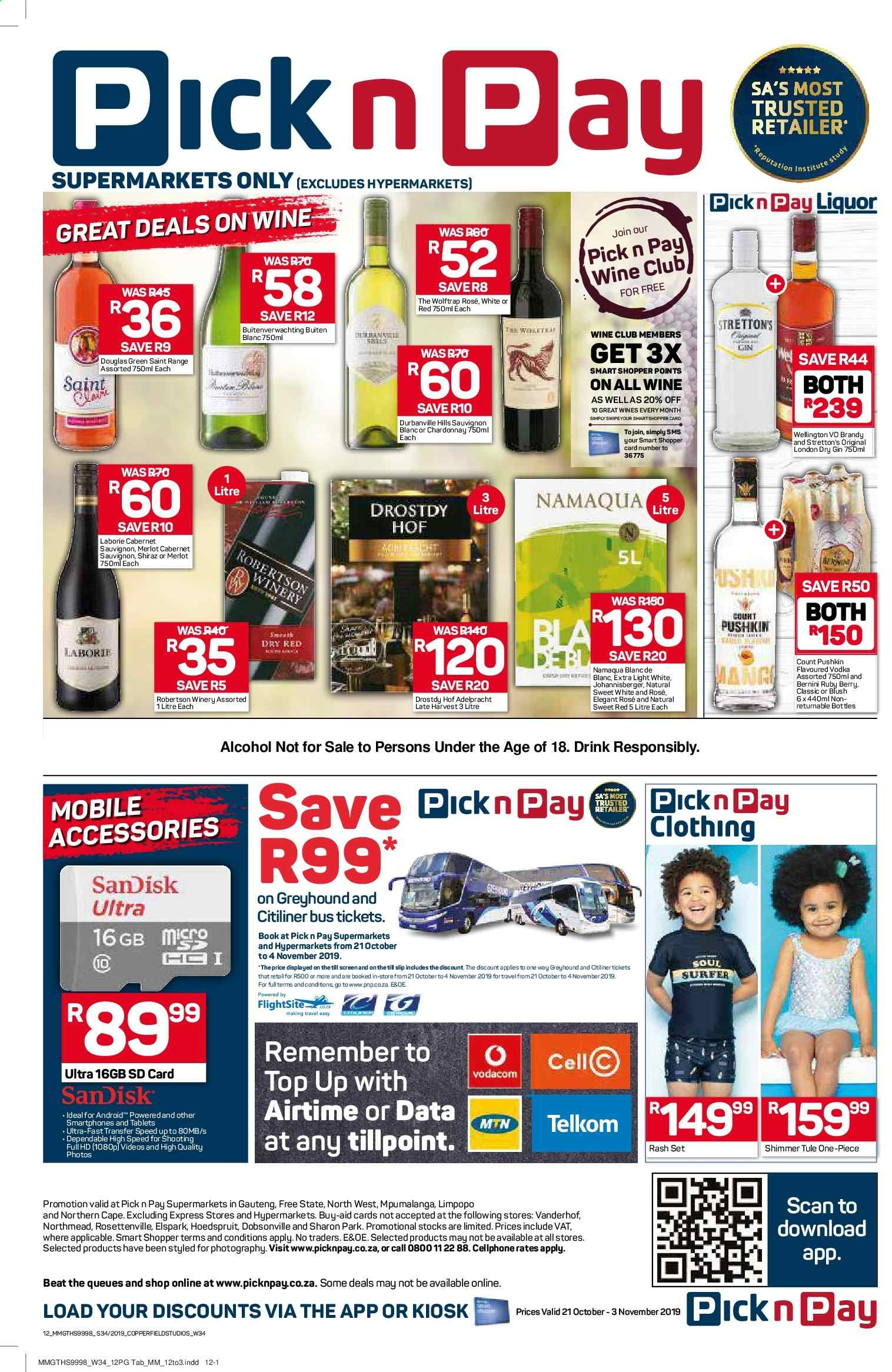 Pick n Pay catalogue  - 10.21.2019 - 11.03.2019. Page 12.