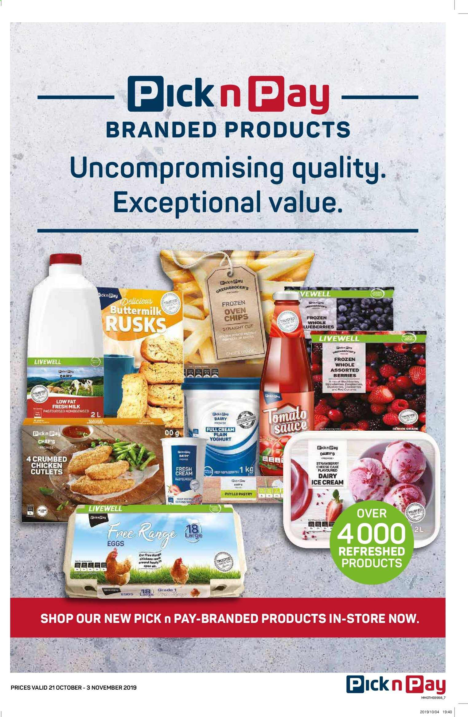 Pick n Pay catalogue  - 10.21.2019 - 11.03.2019. Page 7.