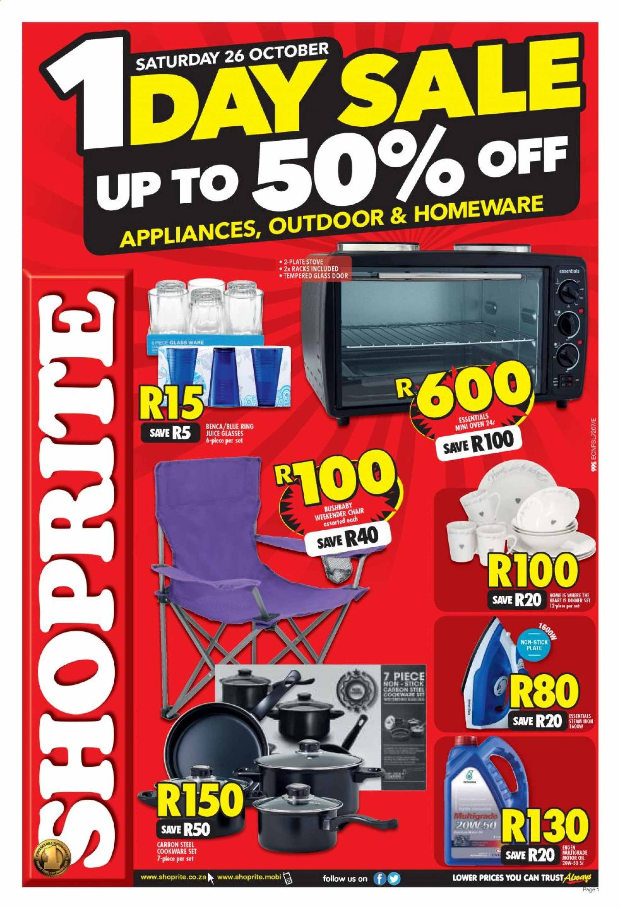 Shoprite catalogue  - 10.26.2019 - 10.26.2019. Page 1.