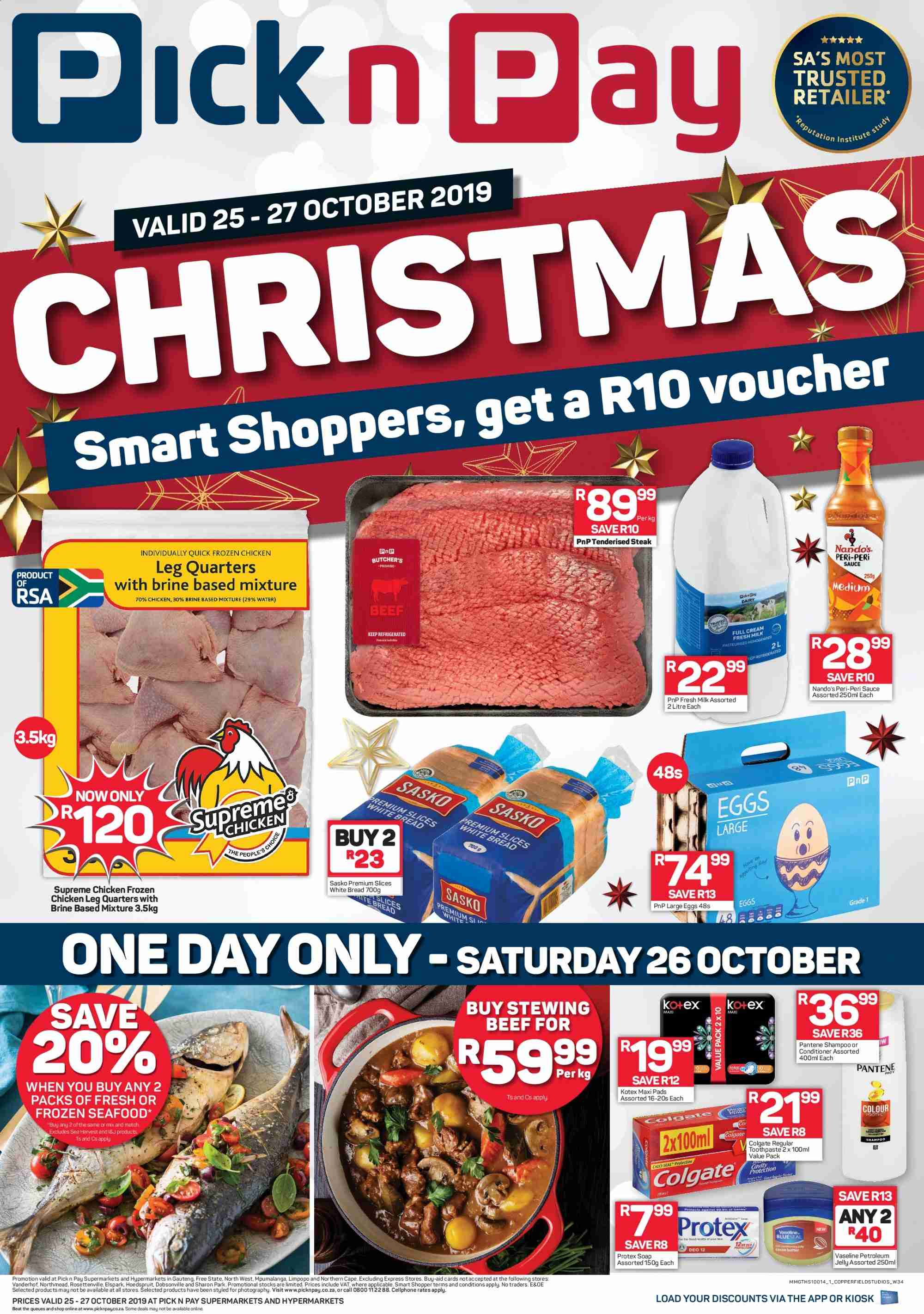 Pick n Pay catalogue  - 10.25.2019 - 10.27.2019. Page 1.