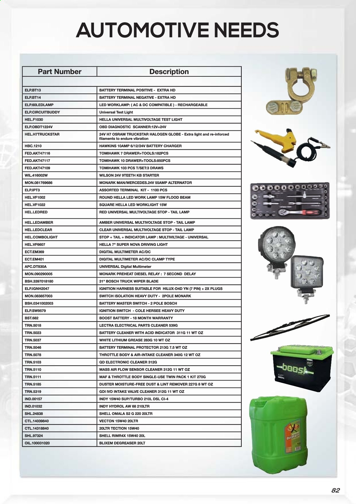 AutoZone catalogue . Page 84.