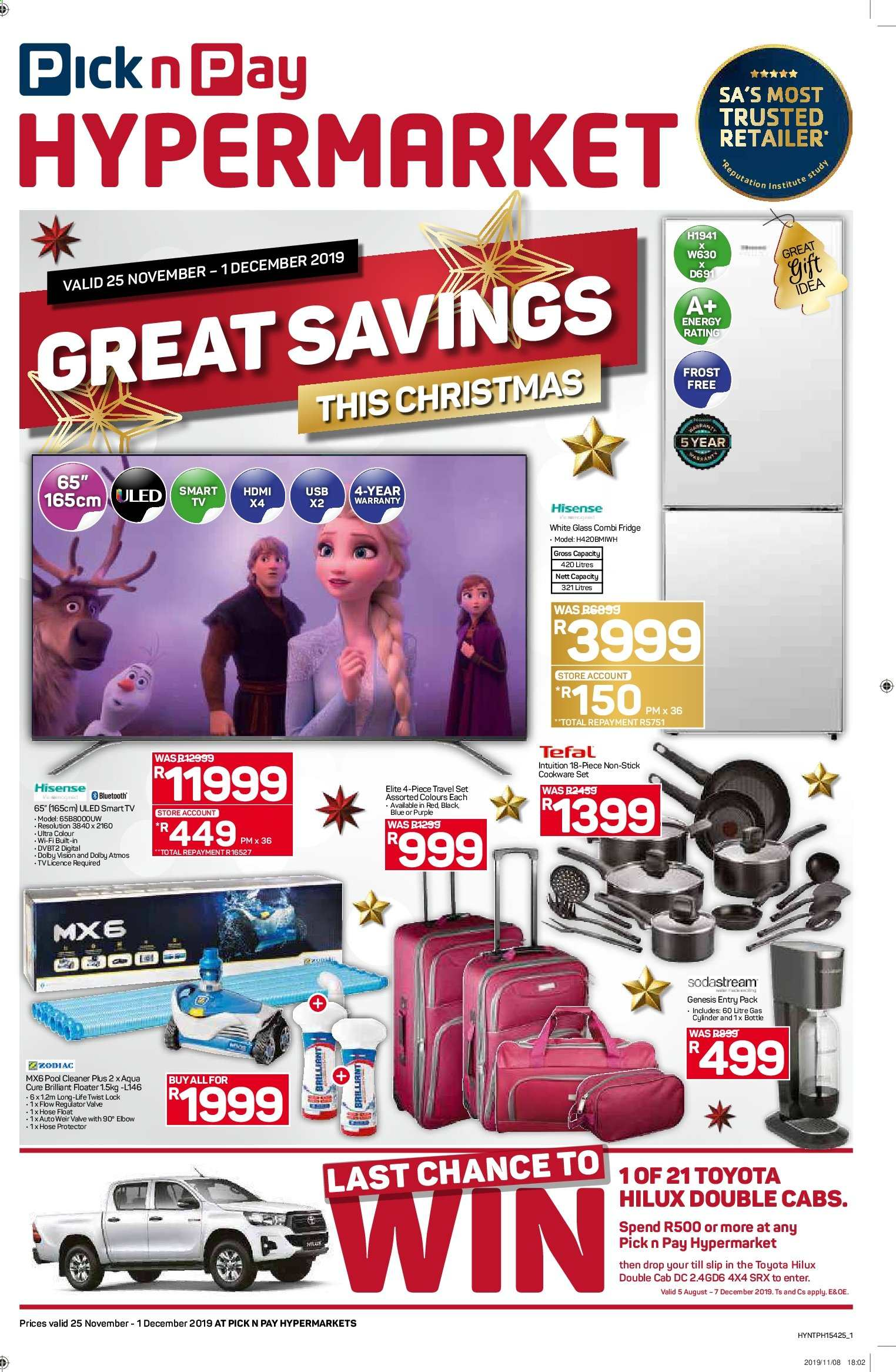 Pick n Pay catalogue  - 11.25.2019 - 12.01.2019. Page 1.