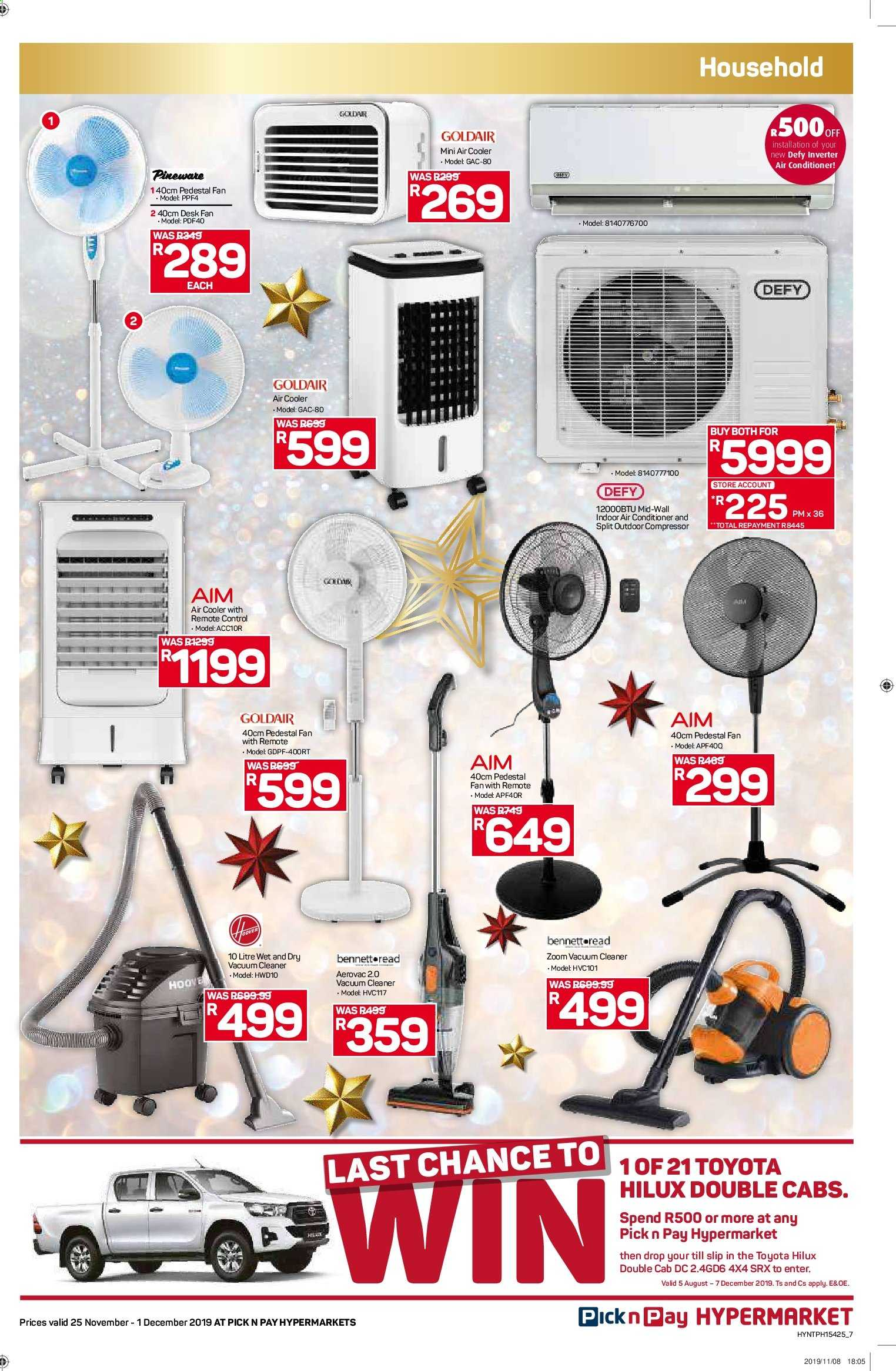 Pick n Pay catalogue  - 11.25.2019 - 12.01.2019. Page 7.