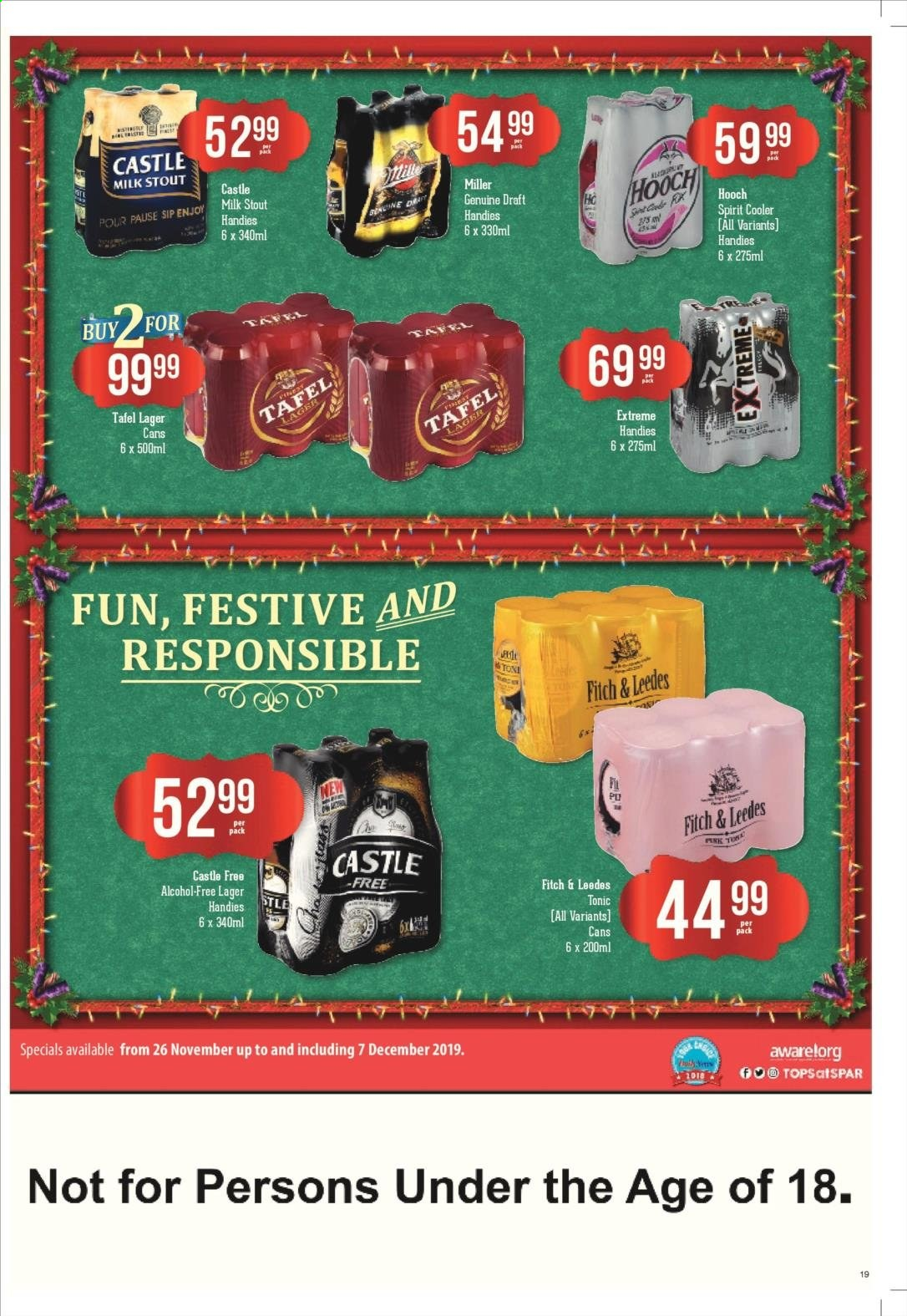 SPAR catalogue  - 11.25.2019 - 12.08.2019. Page 19.