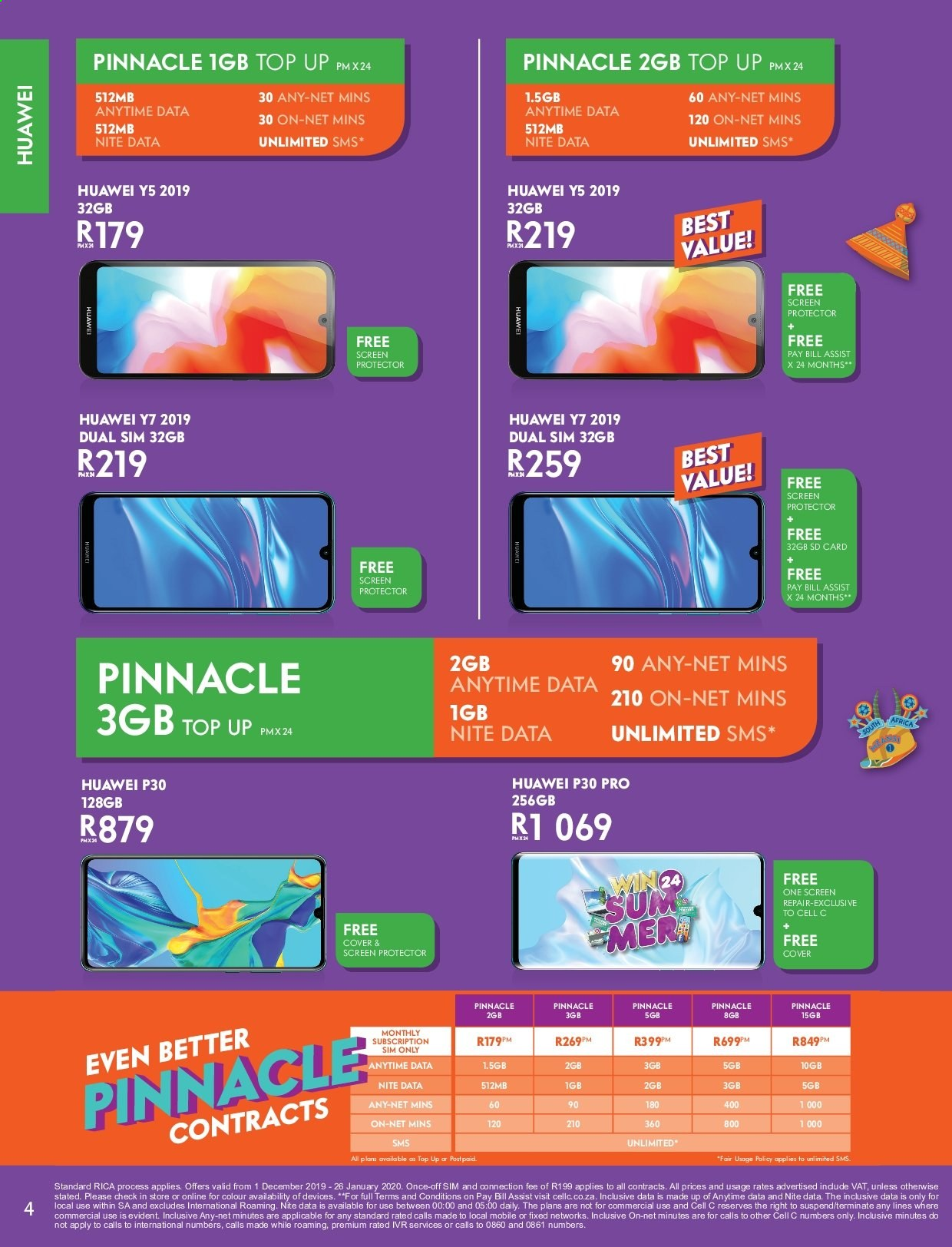 Cell C catalogue  - 12.01.2019 - 01.26.2020. Page 4.